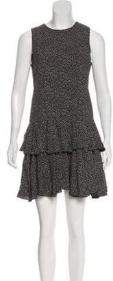 Saint Laurent Heart Print Shift Dress Black Heart Print Shift Dress