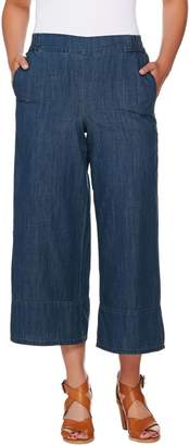 Women With Control Attitudes by Renee Pull-On Denim Culotte Jeans