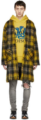 Amiri Yellow Mohair Cardigan Coat