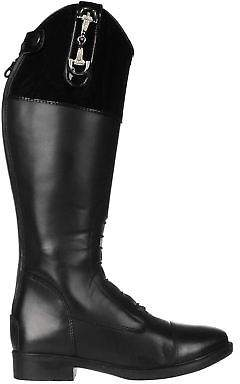 Toggi Kids Charlston Riding Boots Zip Equestrian Elastic Hook and Loop Shoes