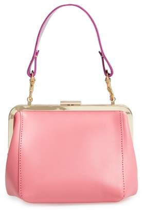 Clare Vivier Le Box Leather Top Handle Bag