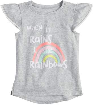 Toddler Girl Jumping Beans Rainbows Graphic Tee