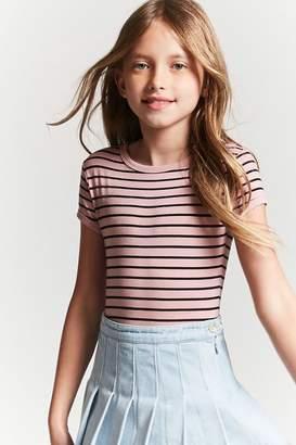 Forever 21 Girls Striped Bodysuit (Kids)