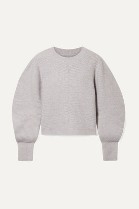 Isabel Marant Swinton Ribbed Cashmere Sweater - Gray