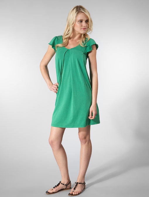 Splendid Cap Flutter Sleeve Dress in Turf