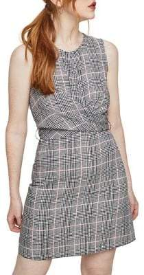 Miss Selfridge Check Twist-Front Dress