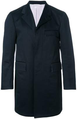 Thom Browne Cotton Twill Classic Unconstructed Chesterfield Overcoat