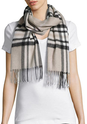 Lord & Taylor Plaid Cashmere Scarf $128 thestylecure.com