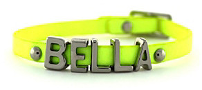 BCBGeneration BCBGenerationTM Neon Yellow and Silvertone Bella Mini Affirmation Bracelet