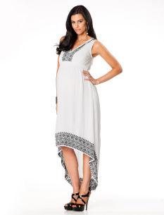 A Pea in the Pod Sleeveless High-low Hem Maternity Maxi Dress