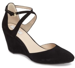Women's Cole Haan Lacey Ankle Strap Wedge Pump $180 thestylecure.com