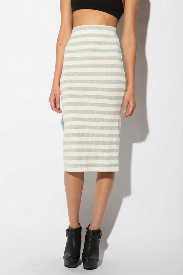Sparkle & Fade Striped Knee Length Skirt