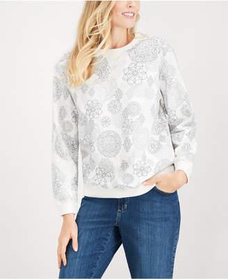 Karen Scott Medallion Print Sweatshirt