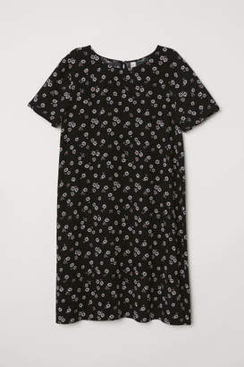 H&M Short-sleeved Dress - Black
