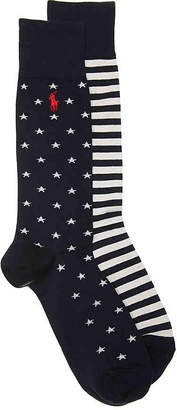 Polo Ralph Lauren Stars & Stripes Crew Socks - 2 Pack - Men's