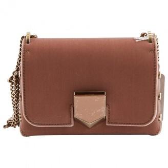 Jimmy Choo Lockett Pink Velvet Handbag