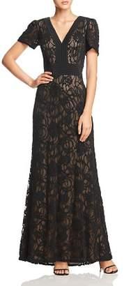 Tadashi Shoji Burnout Velvet Gown