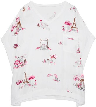Black Label Jacquelyn Short Sleeve Pajamas Top