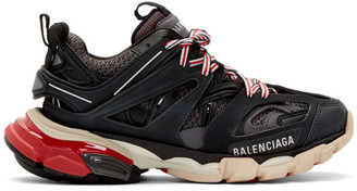 Balenciaga Black and Grey Track Sneakers