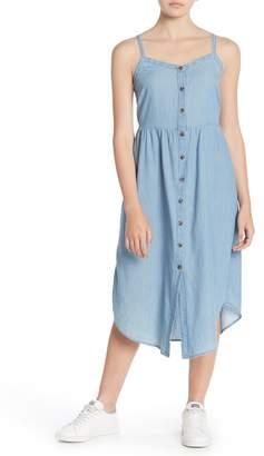 Susina Chambray Button Front Midi Dress (Regular & Petite)