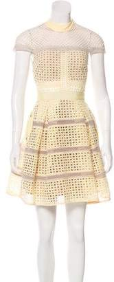 Self-Portrait Laser Cut A-Line Dress