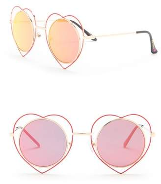 188e9ea10d Betsey Johnson Round Heart Frame Sunglasses