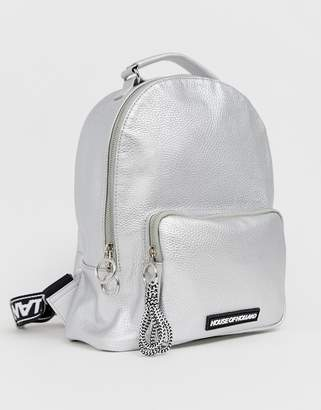 House of Holland metallic back pack