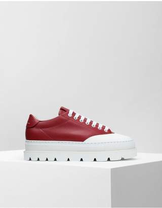 Maison Margiela Calfskin Sneakers With Rubber Soles