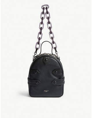 Moschino Pointed strap mini leather backpack