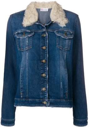 RED Valentino shearling denim jacket