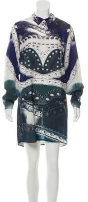 Mary Katrantzou Silk Mini Dress w/ Tags Blue Silk Mini Dress w/ Tags