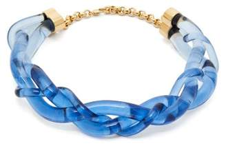 Marni Braided Perspex Necklace - Womens - Blue