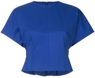 Le Ciel Bleu short-sleeve cropped top