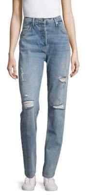 Sandro High-Waist Straight-Leg Jeans