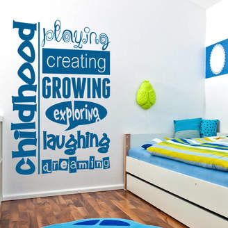 Wall Art 'Childhood Dreaming' Wall Sticker