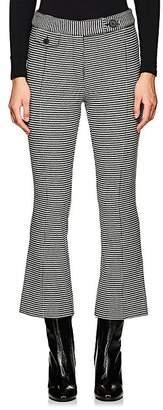 Derek Lam 10 Crosby Women's Checked Cotton Flannel Crop Flared Pants