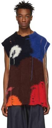 Alexander McQueen Multicolor Mohair Intarsia Sweater