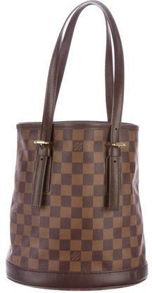 Louis VuittonLouis Vuitton Damier Ebene Marais Bucket Bag
