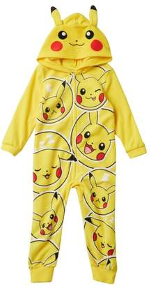 Pokemon AME Pikachu Hooded Fleece Sleeper (Little Boys & Big Boys)