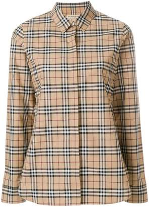 Burberry collared button front shirt