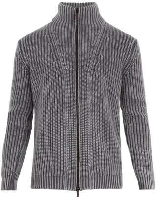 Iris von Arnim High-neck zip-through cashmere cardigan