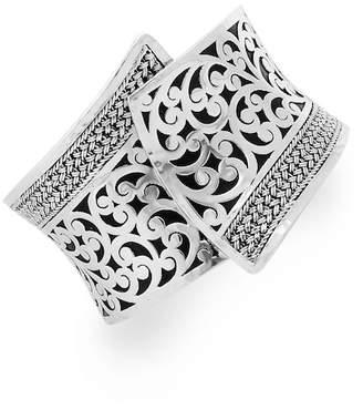 Lois Hill Sterling Silver Filigree Cuff Bracelet