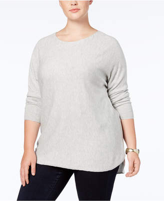 INC International Concepts I.n.c. Plus Size Long-Sleeve High-Low Sweater, Created for Macy's