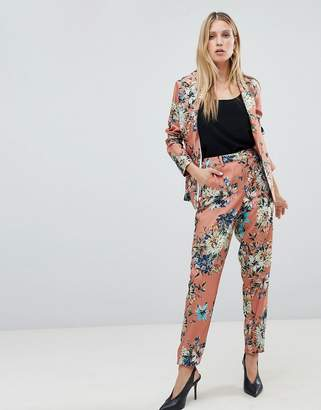 Vila floral suit trousers