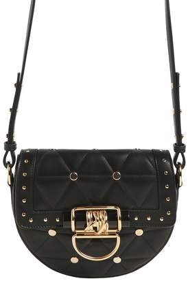 Balmain Small Quilted Leather Bag W/ Studs
