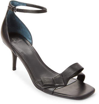 Marc Fisher Black Tierra Metallic Bow Dress Sandals