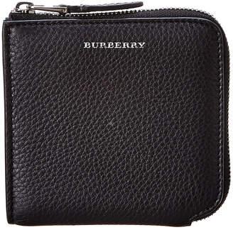 Burberry Leather Zip Around Wallet
