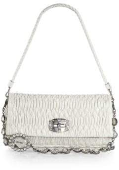 8fcd8b14f0bb Miu Miu Double-Strap Quilted Leather Shoulder Bag