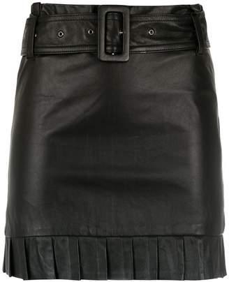 81826d860 Andrea Bogosian belted leather skirt