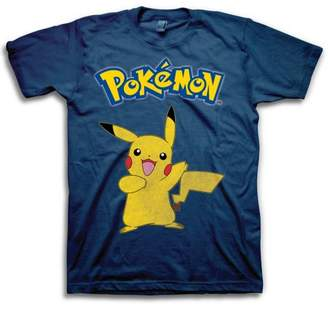 Pokemon Gaming Pikachu Vintage Logo Men's Short Sleeve T-shirt